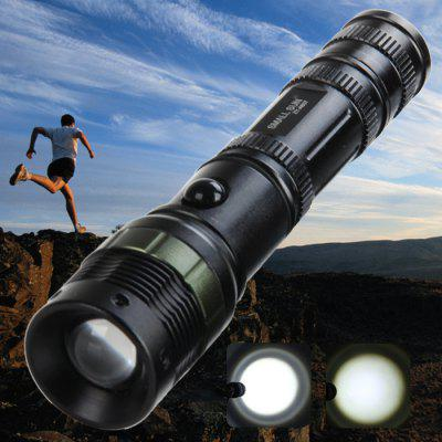 Small Sun ZY - A607 800LM Cree Q5 3 Modes Zoomable Rechargeable Waterproof LED Flashlight ( 1 x 18650 Battery )