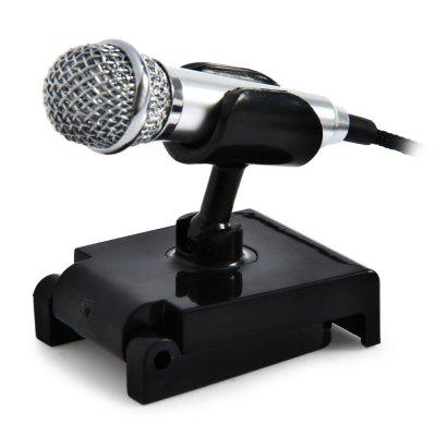 Mini 3.5mm Plug Mobile Phone Condenser Microphone with Stand