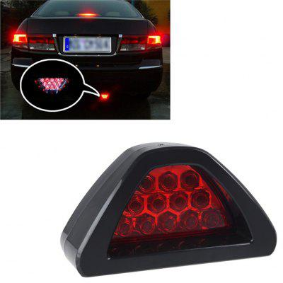Universal Car Auto F1 Style Brake Light 12 Red LED Rear Tail Warning Strobe Flash Lamp