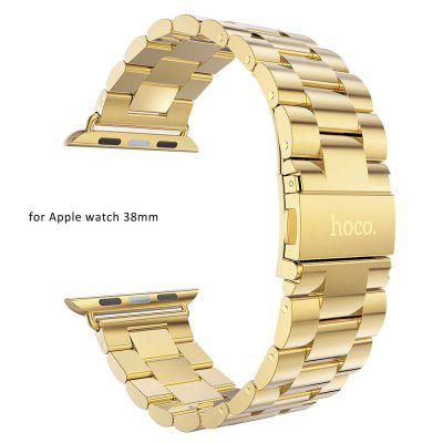 Hoco Stainless Steel Watchband Strap Safety Folding Clasp Band for Apple Watch 38mm