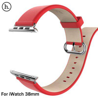 HOCO Classic Genuine Leather Watchband Strap Stainless Steel Buckle for Apple iWatch 38mm