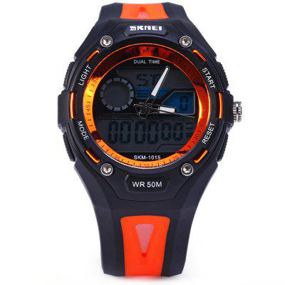 Фото #1: Skmei 1015 Sports LED Watch Double Movt 50M Water Resistant Alarm Date Day Display Army Wristwatch