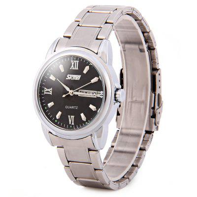 Skmei 9082 Male Business Japan Quartz Watch Day Date Display