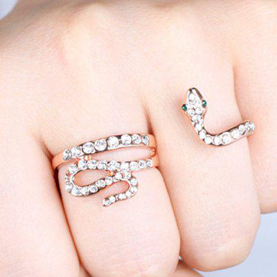 Chic Rhinestone Snake Ring For Women