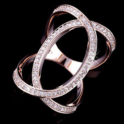 Luxury Rhinestoned Hollow Out Women's Ring