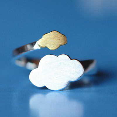 Cloud Shape Cuff Ring