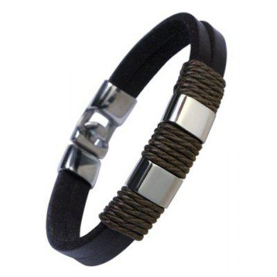 Smart Faux Leather Chain Bracelet For Men