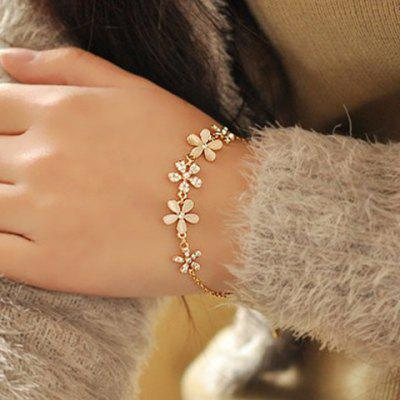 Sweet Faux Opal Flower Women's Bracelet