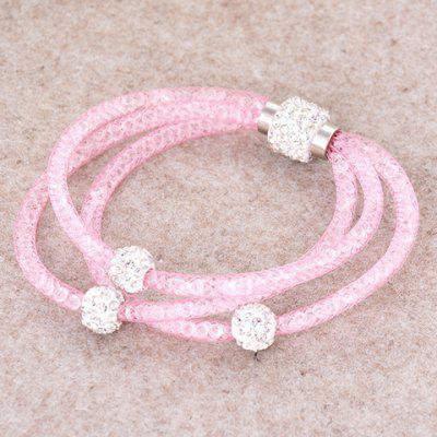 Pulseira strass Charme Beads Layered Feminina