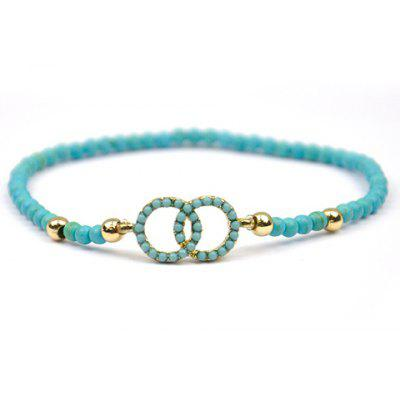 Chic Openwork Circle Turquoise Bracelet For Women