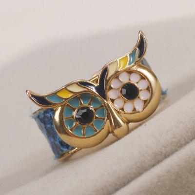 Owl Colored Cuff Ring