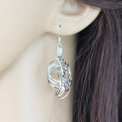 Pair of Simple Solid Color Round Layered Earrings For Women