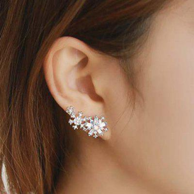 Pair of Cute Flower Star Beads Earrings For Women