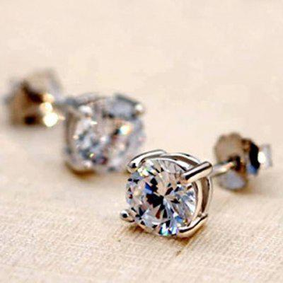 Pair of Chic Rhinestoned Women's Earrings
