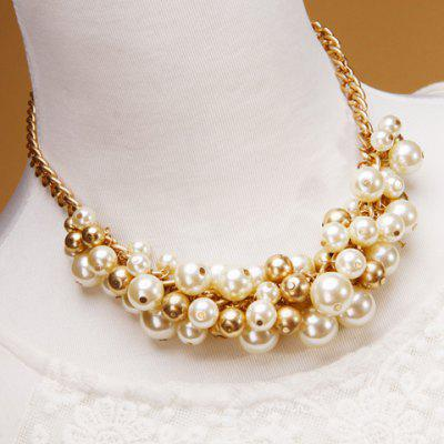 Graceful Faux Pearl Necklace