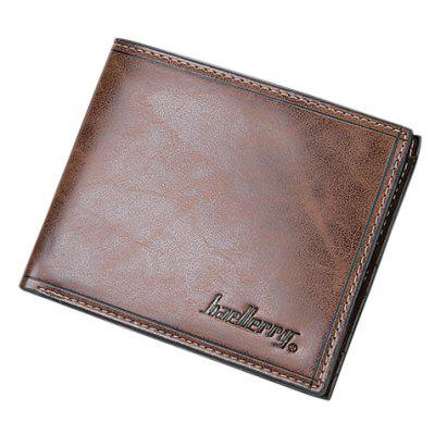 Buy COFFEE Simple Solid Color and Letter Print Design Men's Wallet for $3.84 in GearBest store