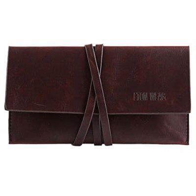 Trendy Wrap and PU Leather Design Men's Clutches