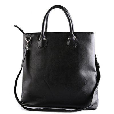Fashion Solid Color and Black Design Men's Messenger Bag