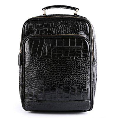 Fashion Crocodile Print and Black Design Men's Backpack