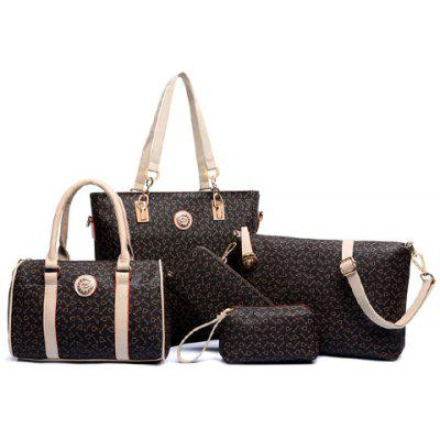 Elegant Arrow Print and PU Leather Design Women's Shoulder Bag