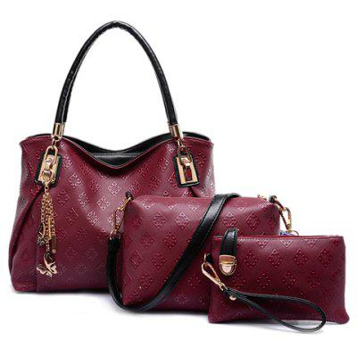 Graceful Embossing and Butterfly Design Women's Tote Bag