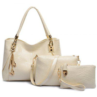 Graceful Crocodile Print and Butterfly Design Women's Tote Bag