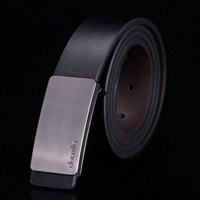 Alloy Glossy Buckle Belt For Men