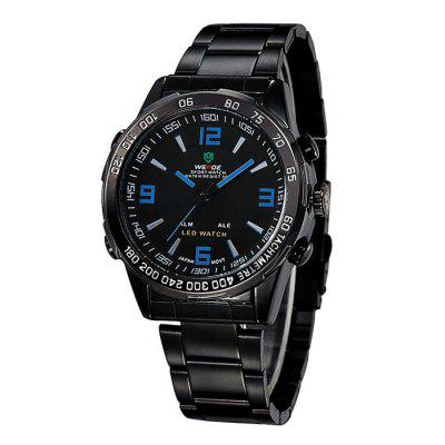 Weide WH1009 Japan Quartz Dual-movt LED Sports Watch 30M Water Resistance