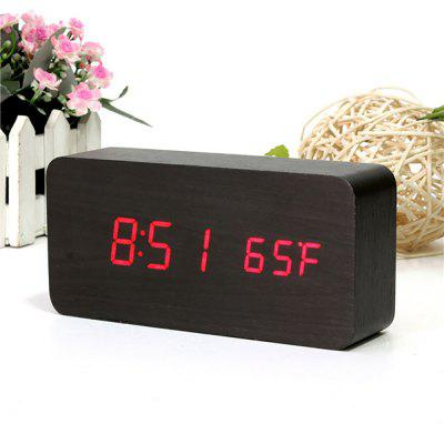 AJ6035 LED Wooden ClockClocks<br>AJ6035 LED Wooden Clock<br><br>Color: Blue,Green,Red,White<br>Features: Multifunctional and fashionable<br>Material: Wood<br>Package Contents: 1 x AJ6035 LED Wooden Alarm Sound Control Clock Time Temperature Week Calendar Display for Home Office, 1 x USB Cable, 1 x Bilingual User Manual in English and Chinese<br>Package size (L x W x H): 18.00 x 6.00 x 10.00 cm / 7.09 x 2.36 x 3.94 inches<br>Package weight: 0.2800 kg<br>Powered by: USB Cable, 4 x AAA 1.5V Battery ( not included )<br>Product size (L x W x H): 15.00 x 4.00 x 7.00 cm / 5.91 x 1.57 x 2.76 inches<br>Product weight: 0.1990 kg<br>Shape: Novelty,Rectangular<br>Style: Modern, Fashion<br>Time Display: Digital<br>Type: Table Clock, Alarm Clock