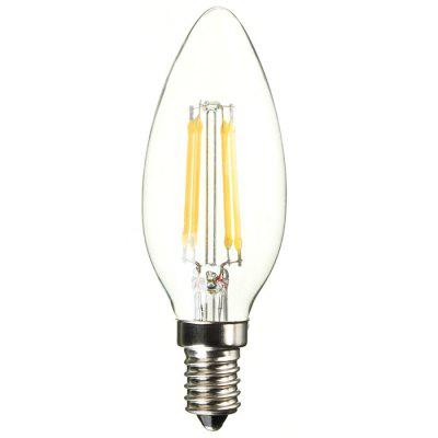 BRELONG E14 4W 500Lm COB LED Filament Candle Light