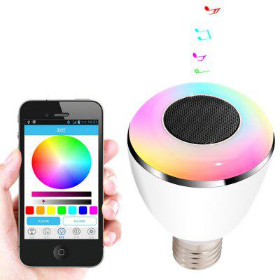 BL08A Speaker Musica Bluetooth 4.0 Lampadina LED Intelligente E27 Luce Lampada Vancaze Party Decorazione Regalo