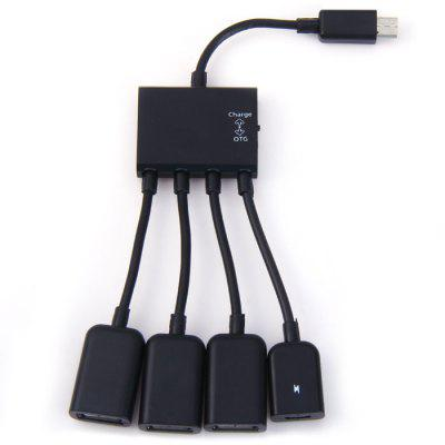 Micro USB OTG Charge Hub Adapter Cable