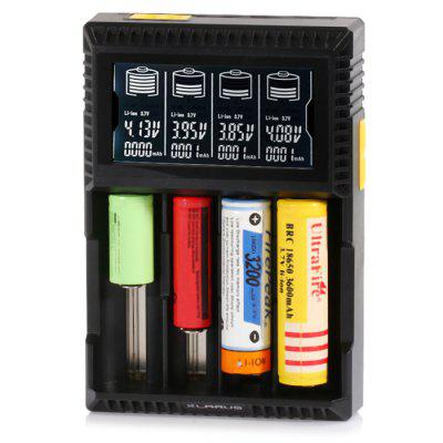 Klarus CH4S Intelligent Four Slots Battery Charger with LCD for Lithium-ion / Ni-MH / Ni-Cd Batteries - US Plug