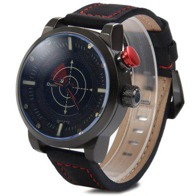 Oulm 3558 Analog Digital Dual Movt LED Scanning Men Watch with Leather Band