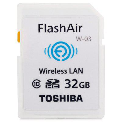 TOSHIBA FlashAir W-03 32GB SDHC Memory Card