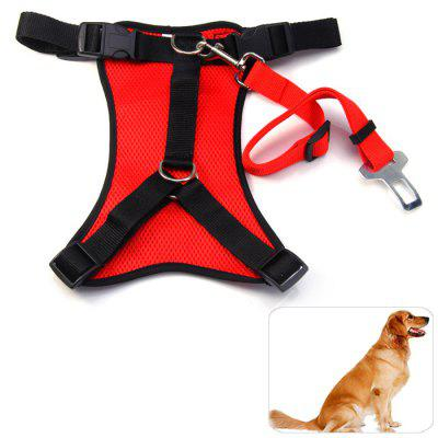 Dog Leash Safety Net Chest Harness Set for Outdoor ( L Size )