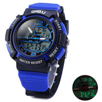 Gobu 1536 Water Resistance Dual Movt LED Sport Watch