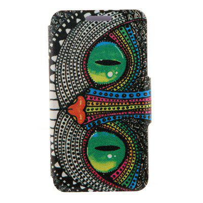 Kinston Card Holder PU Leather Phone Cover Case with Owl Design for Huawei Ascend P7