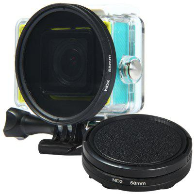 58mm Color Filter Plein Adapter Ring Lens Cover Set