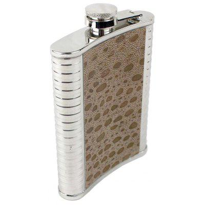 Flasque en cuir portable Flagon 8 Ounce