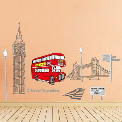 Buy COLORMIX London Clock Wall Sticker for $6.72 in GearBest store