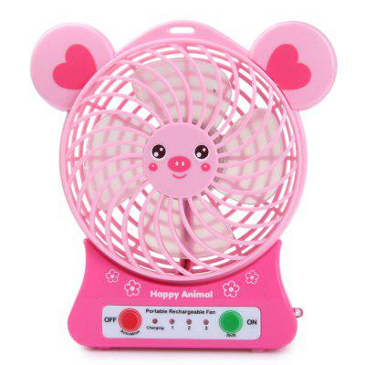 Super Big Wind Animal Design Suspensible USB Rechargeable Fan with Li - ion Battery