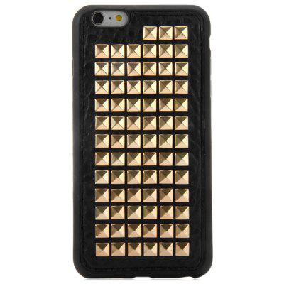 Rivet Design TPU and PU Leather Phone Back Cover Case for iPhone 6 Plus - 5.5 inch