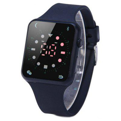 HZ55 Red Digital LED Sports Watch Decorative Icon Rubber Band Wristwatch