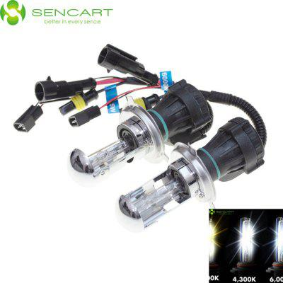 2 x SENCART H4 P43T 35W 4500LM 4300K HID Xenon Car Fog Light
