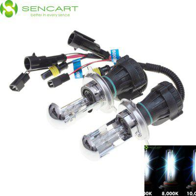 2 x SENCART H4 P43T 55W 8000K 4500LM HID Xenon Car Head Light