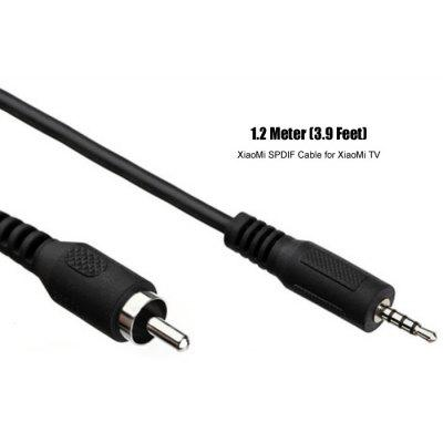 xiaomi spdif digital coaxial audio cable male to rca male 1 2m free shipping. Black Bedroom Furniture Sets. Home Design Ideas