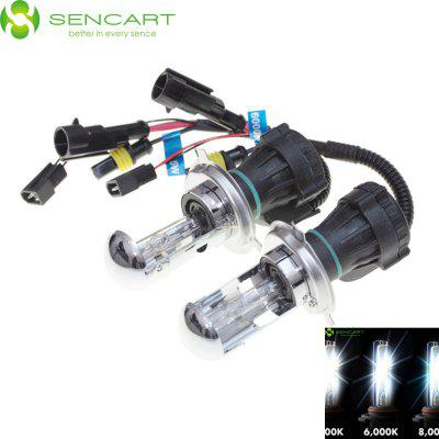2 x SENCART H4 P43T 35W 3300LM HID Xenon Car Head Light