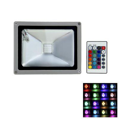 20W AC 85 - 265V 2000LM Waterproof Remote Controlled RGB LED Flood Light