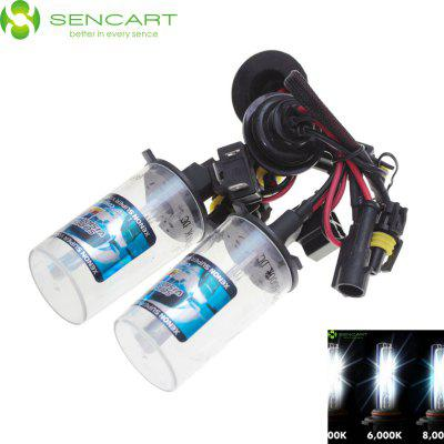 Sencart H4 P43T 3300LM 6000K HID Xenon Car Head Light ( DC 12V 2 Pcs )